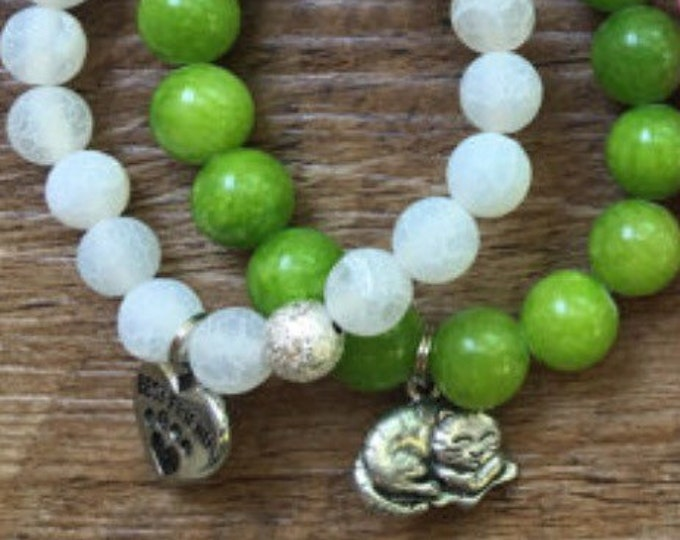 Little Girl Cat Bracelet Stack
