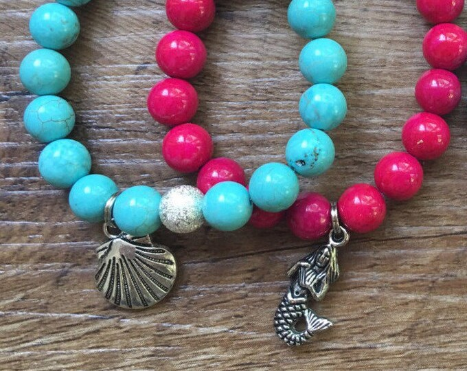 Little Girl Mermaid Bracelet Stack