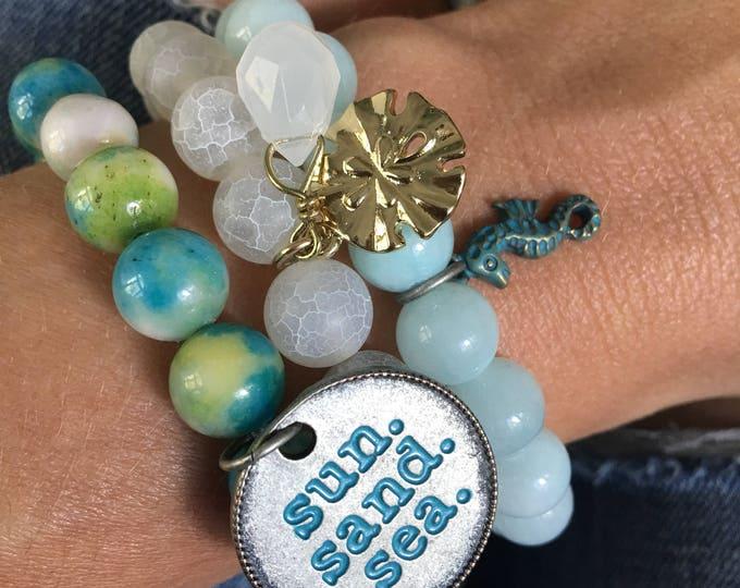 Sun.Sand.Sea. Bracelet Stack