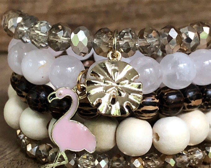 The Simply Flamingo Bracelet Stack