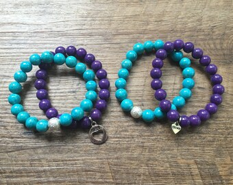 Best Friend Bracelet Sets- 2 sets of matching bracelets