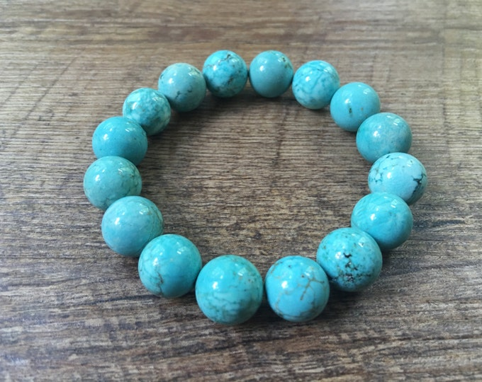 Turquoise Magnesite 12mm Bead Bracelet