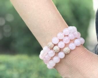 Rose Gold Pave Pink Bracelet