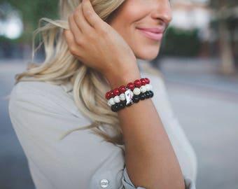 Indiana Hoosier Love Bracelet Stack