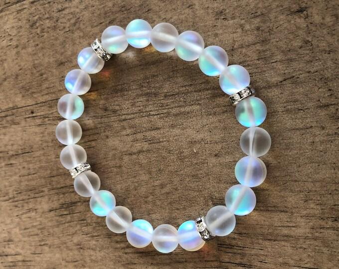 Iridescent Rondelle Bracelet