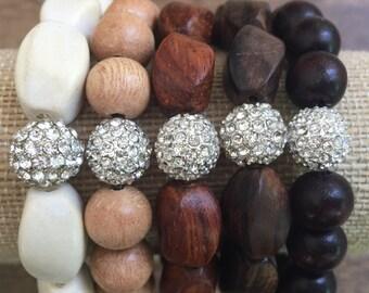 Wood Pave Bracelet