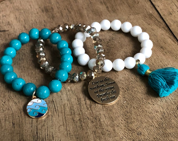 Ocean Waves Bracelet Stack