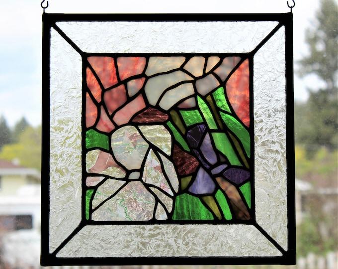 Stained Glass Panel Spring Flower Home Decor Garden Suncatcher Mother's Day
