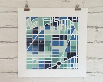 U Street & Logan Circle DC Map Print