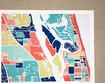 Vero Beach Map Print