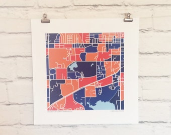University of Florida Map Print
