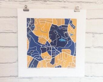 Emory University Map Print