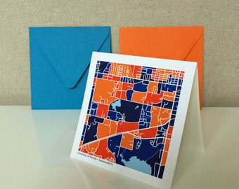 University of Florida Map Notecards