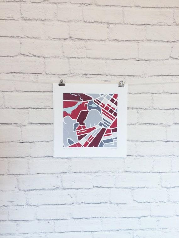 Lynchburg College Map Print