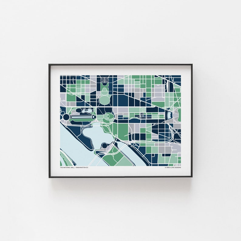 photograph regarding National Mall Map Printable called Washington DC Nationwide Shopping mall Map Print