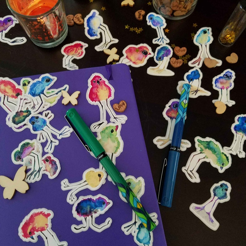 Die Cut Sand Piper Sticker set  31 unique stickers for your image 0