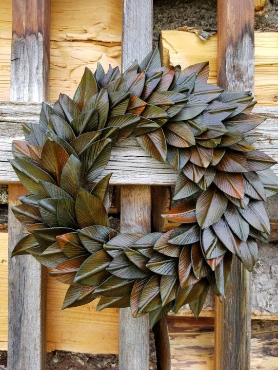 Leather Leaf Wreath