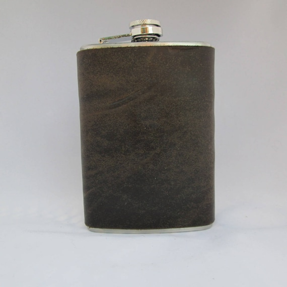 Coyote Shell Shock Leather Flask