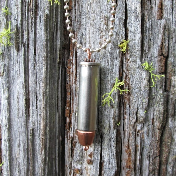 Bullet Necklace, Ammo Necklace, Bullet Casing Necklace, .38 Special Bullet Necklace