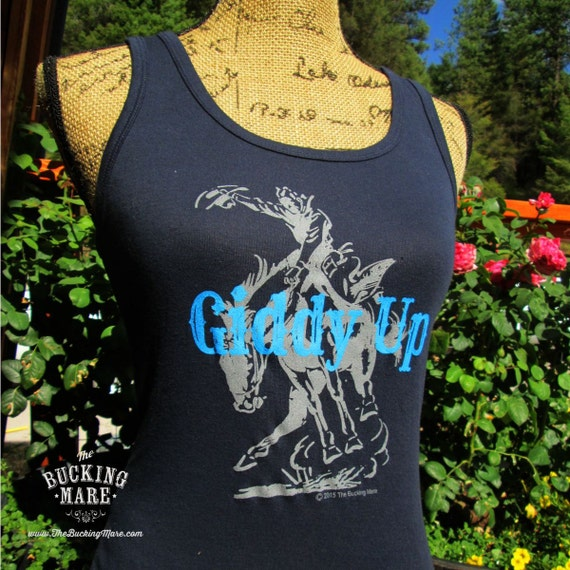 Tank Top, Western Tank Top, Ladies Tank Top, Dark Blue Tank Top,