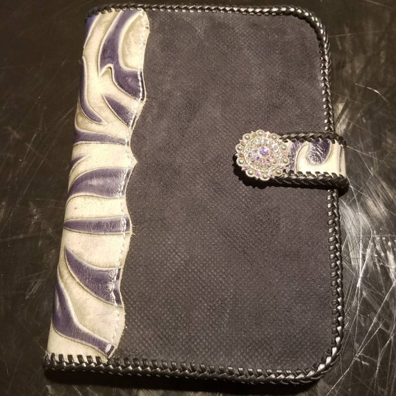 Embossed Zebra Leather Junior Portfolio