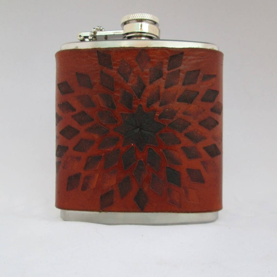 Burned Leather Flask