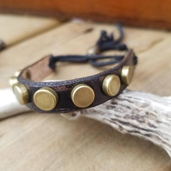 Thin Leather Stacker Cuff