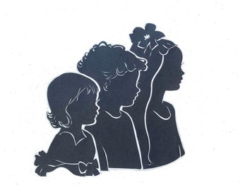 Group of 3 silhouettes