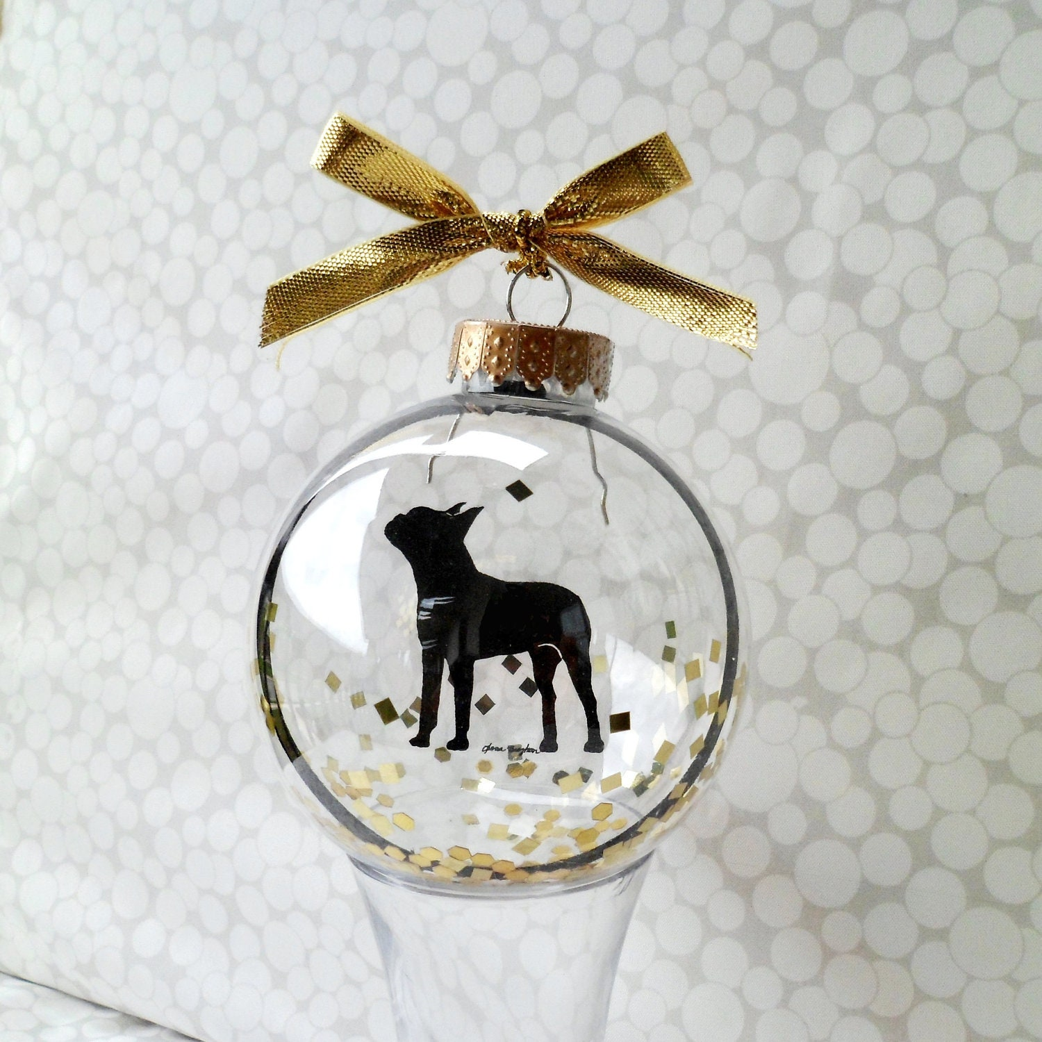 Boston Terrier/Pet ornament