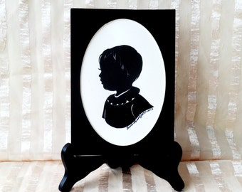 Black mat for silhouette/5 x 7 inches