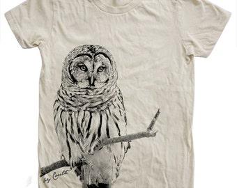 9c5ebc24a Owl Tshirt, Women's T-shirt, American Apparel Crew Neck, Cotton T-shirt, Bird  Print, Cute Animal Print Tee, Graphic Tee, Bird Lover Gift