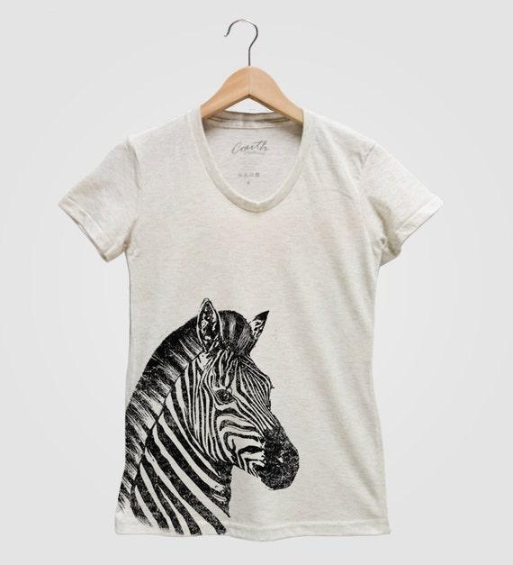 5053c805b4 Zebra Shirt Women s T-shirt Animal Print Shirt Graphic