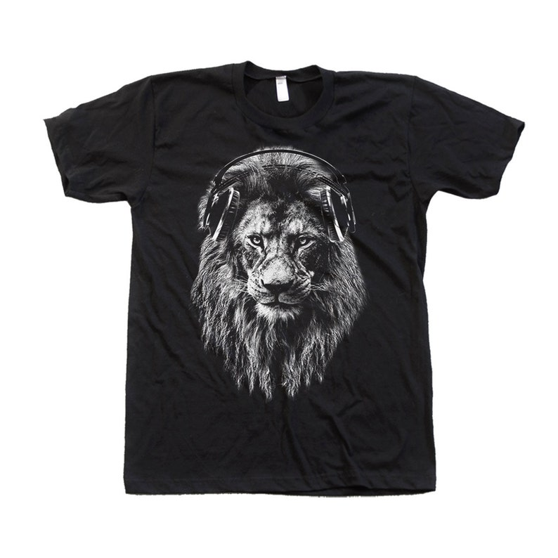 a1c9665f7 Lion T-shirt Unisex Tshirt Men s Graphic Tee Screen