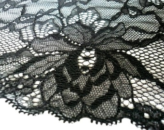 "Scallop Edge Black Galloon Lace Bra Making // Sewing Crafts 135mm// 5.25/"" Wide"