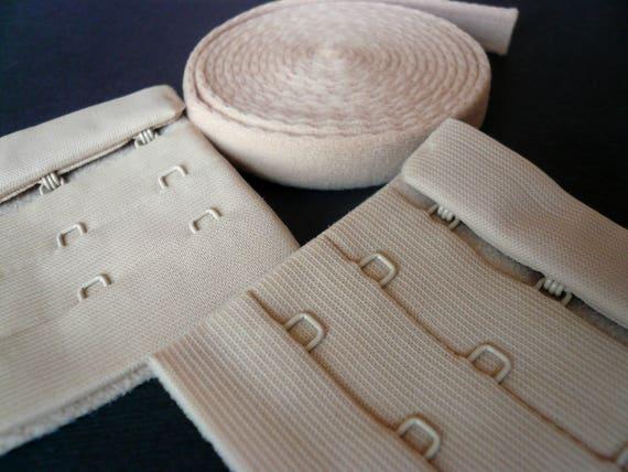 Bra Making Findings Kit inc Ivory Small//Med Size Hooks /& Eyes.Sliders /& Rings