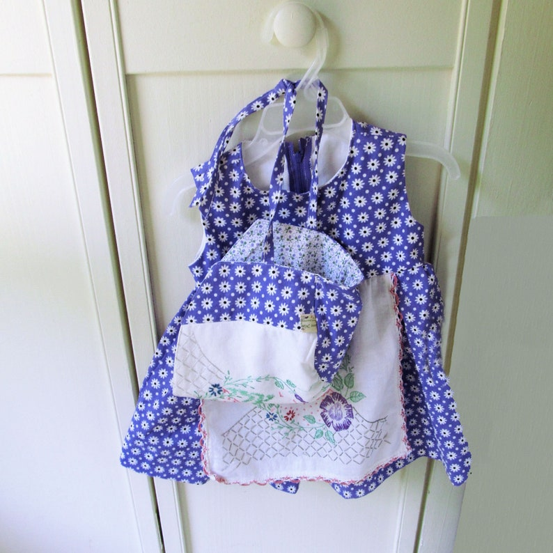 Purple Baby Bonnet and Dress Set with Panties Baby Girl image 0