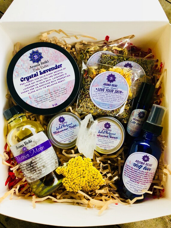 Radiate Magic- Gift Box, Body Butter, Body oil, Facial Steamer, Solid  Perfume, Essnetisl oil Roll and spritz
