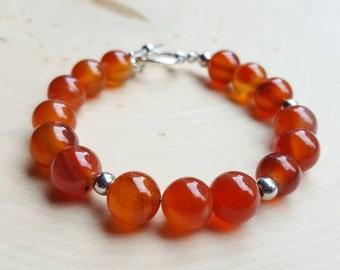 Fire Agate Bracelet, Fire Agate Jewelry, Chakra gemstone jewelry, healing gemstone bracelt, red agate jewelry, fire agate gemstone jewelry