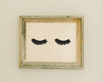 PERFECT GIFT FOR HOME//SHOP DECOR #14 EYELASHES LASH OUT MAKEUP ART PRINT