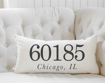 Remarkable Zip Code Pillows Etsy Inzonedesignstudio Interior Chair Design Inzonedesignstudiocom