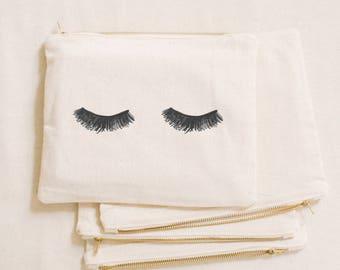 Makeup Bag - Lashes, Calligraphy, cosmetic, pencil case, clutch, wedding  favor, present, bridesmaid gift, women s gift a644a6a897