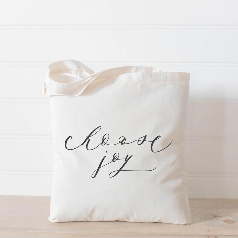 Tote Bag  Choose Joy present housewarming gift  tote image 0
