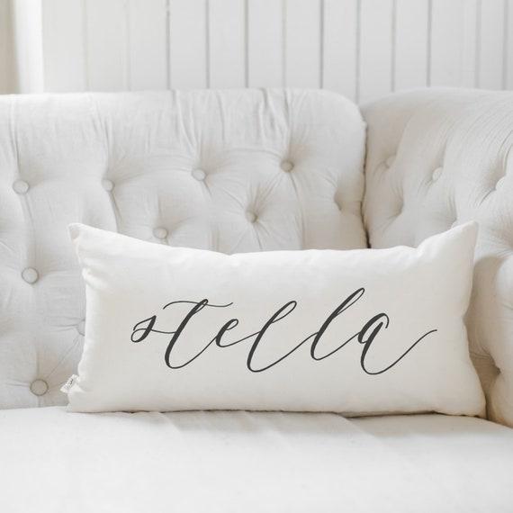 Lumbar Pillow Personalized Calligraphy