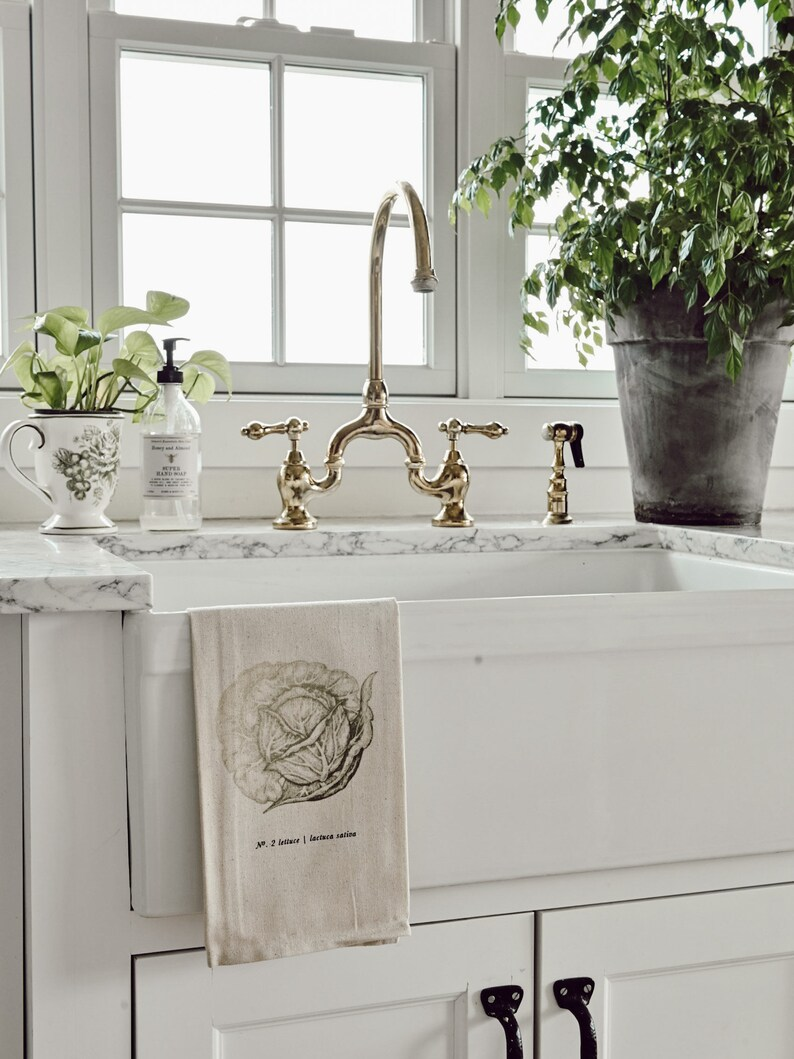 Liz Marie Blog, housewarming gift LMB x PCB Veggies Color Tea Towel present Made in the USA kitchen decor Fruits