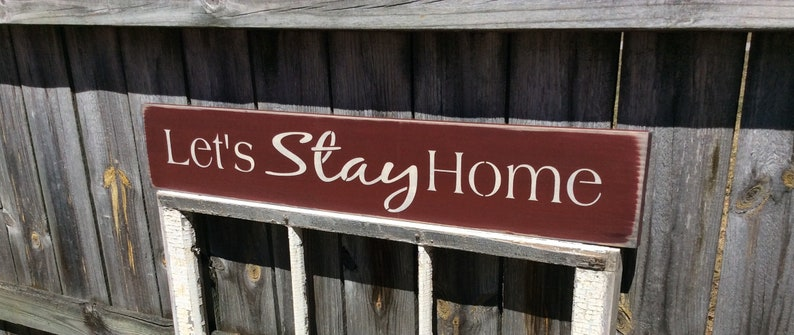 6e66b51bb1ad S356 Wooden Handmade Long Signs. Let s Stay