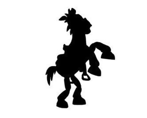 Bullseye from Toy Story Horse Silhouette Vinyl Decal Black   Etsy