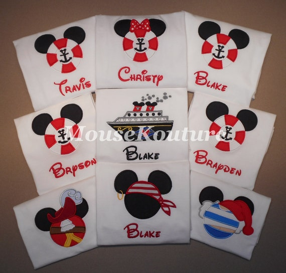 Disney Cruise Shirts Mister Miss Mouse Shirts Family Vacation Clothes or Cruise Shirt personalized Mix n Match