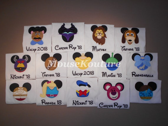 Wreck It Ralph Vanellope Mister Mouse Head Ears Shirt Family Vacation Clothes or Cruise Shirt