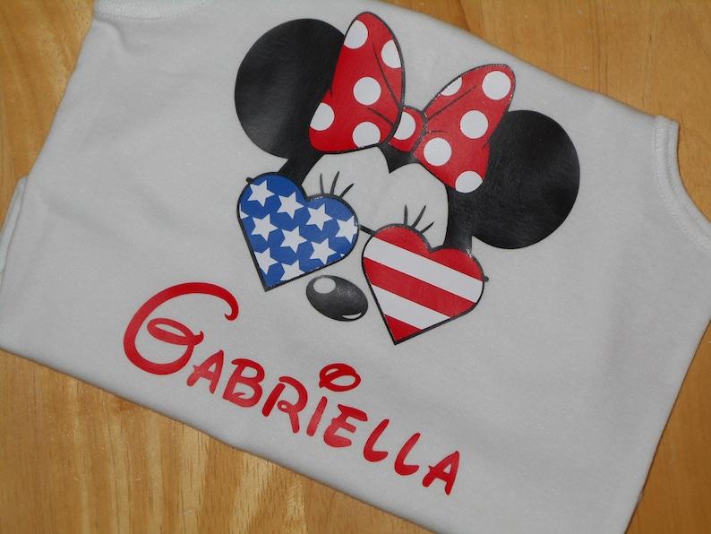 1ed0084c8 Disney 4th of July Patriotic Mickey Minnie Vinyl Mouse | Etsy