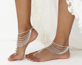 0f76c5ae42f Silver Barefoot Sandals pair